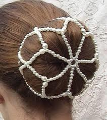 Knutnät / hårnät i pärlor